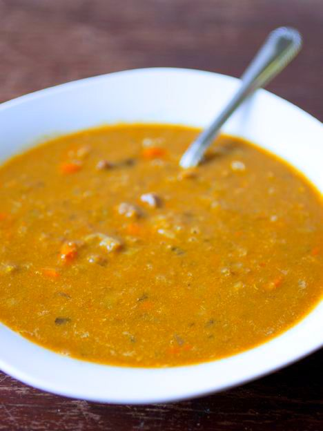 Creole Split Pea Soup with Andouille Sausage