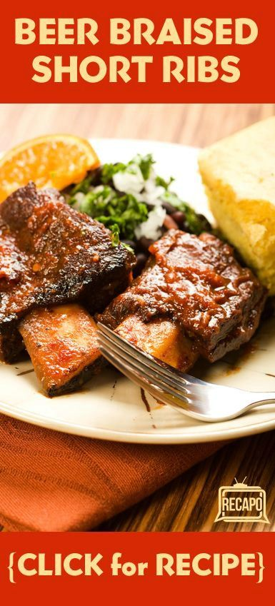 , featuring Beer Braised Short Ribs, glazed carrots, and celery root ...