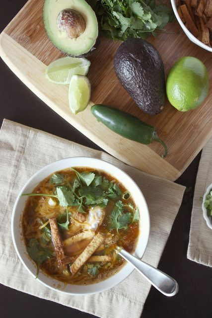 Vegetarian Tortilla Soup | Food & Drink | Pinterest