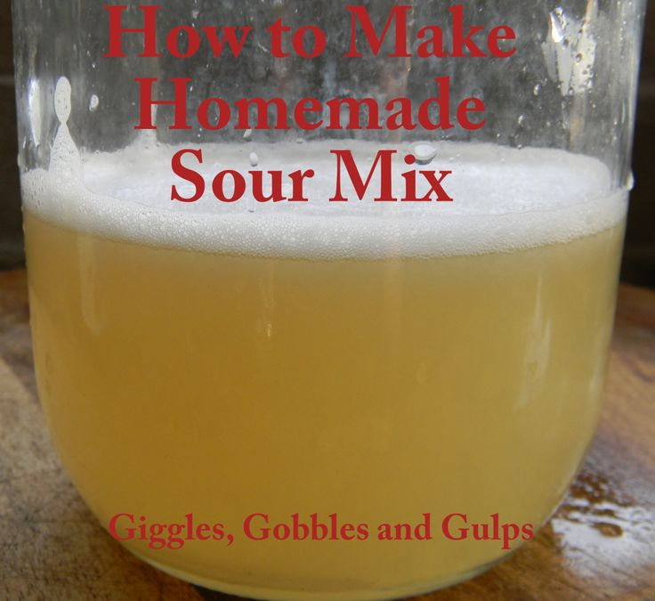 How to Make Homemade Sour Mix | Food | Pinterest
