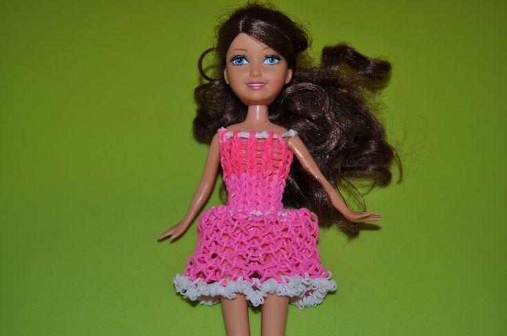 Одежда для кукол из резинок для начинающих