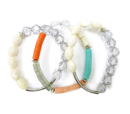 Color Block Bracelet Set