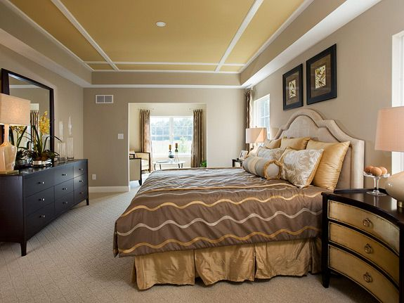 Painted Tray Ceiling In Master Bedroom New House Pinterest