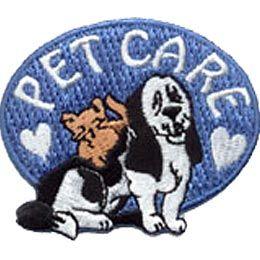 pet care animals pets cat dog crest patch merit badge pet