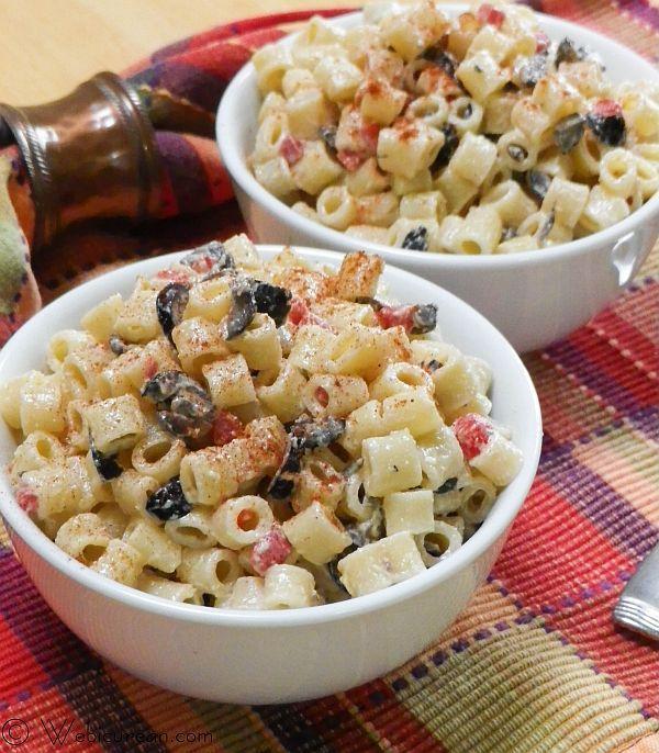 Mom's Classic Macaroni Salad #SundaySupper | Webicurean