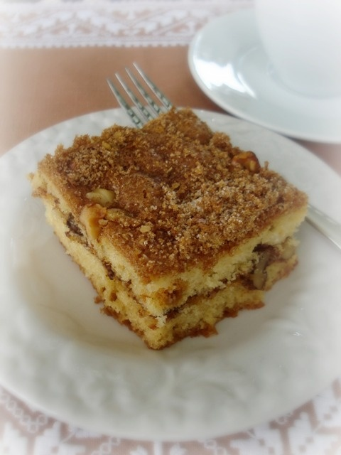 sour cream coffee cake...I made this with dairy free sour cream ...