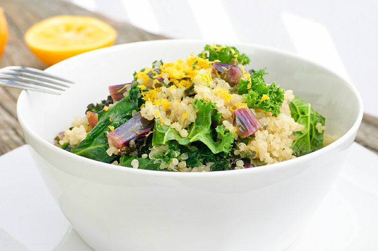 Warm Quinoa and Kale Salad (Gluten and Dairy Free)
