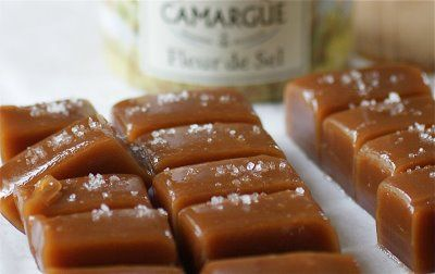 Fleur de sel caramels. Yummmy, perfect combination of salty and sweet.