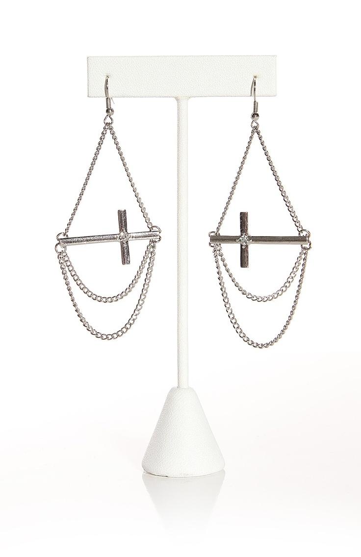 hanging cross earrings craft ideas
