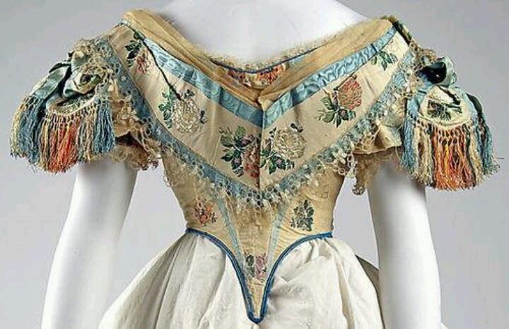 1851 ball gown bodice 19th century fashion pinterest