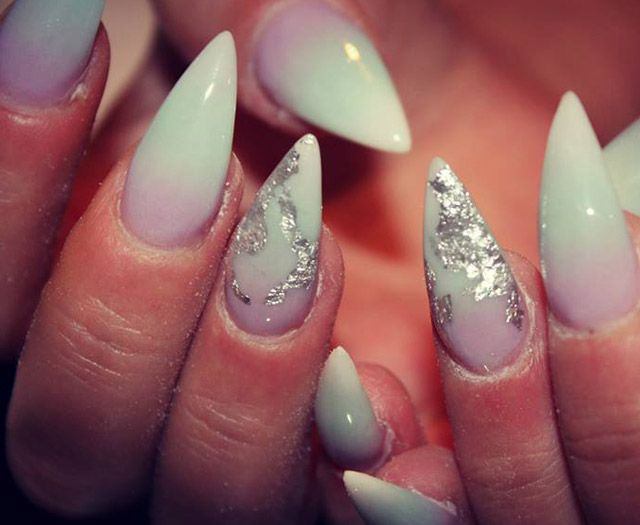 love these white stilleto nails - gorgeous!