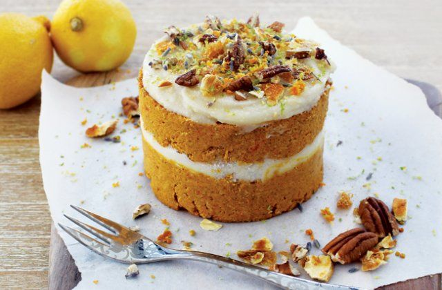 Raw carrot cake with icing – Healthy cake recipes | Nourish magazine ...