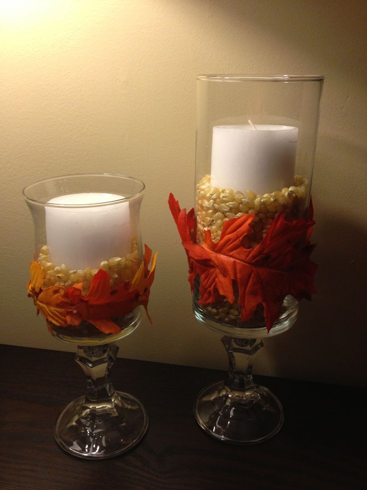 DIY vases from dollar store fall decor Fall Pinterest