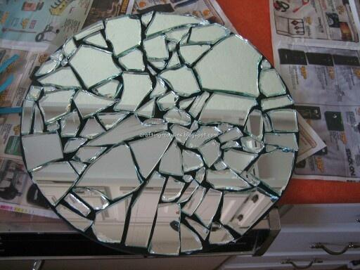 Broken mirror wall decor house home pinterest for Broken mirror art
