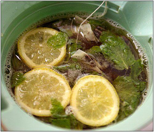 Lemon Mint Ice Tea – refreshing summer drink