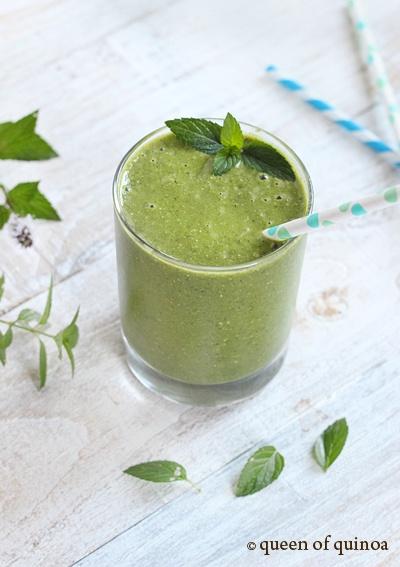... cucumber, kale and mint. #Smoothie #Melon #Mint #Cucumber #Kale #