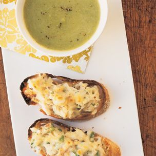Asparagus Soup with Crab Crostini | Soups, Stews, Stoups & Chili | Pi ...