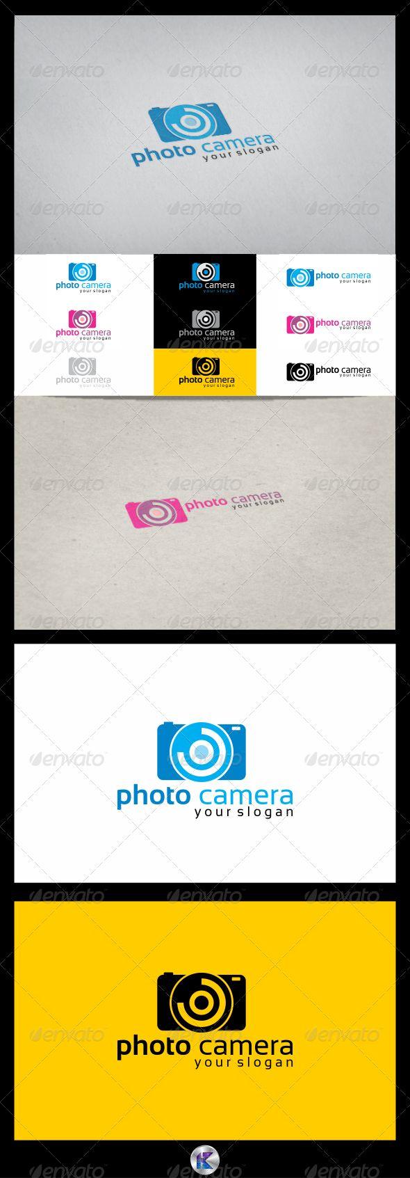 Camera Company Logo Photo camera logo template