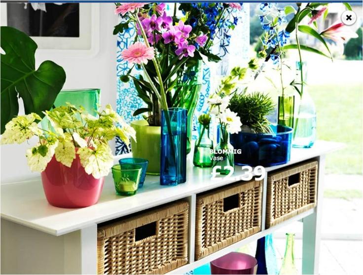 Ikea Esstisch Lyckhem ~ Ikea Lyckhem console with bright flowers  Studio Love  Pinterest
