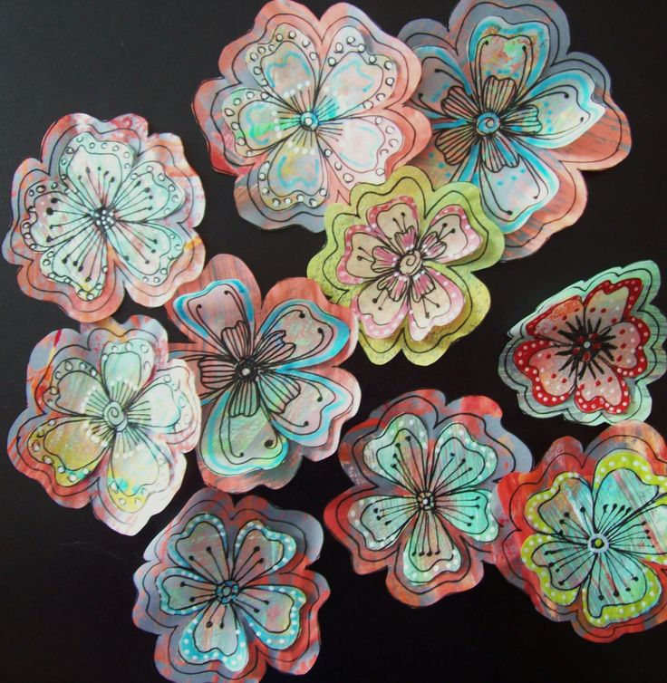 flowers made with tracing paper documented life project   pat s po