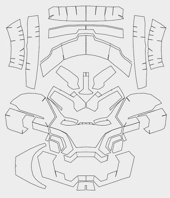 Железный человек из картона схема