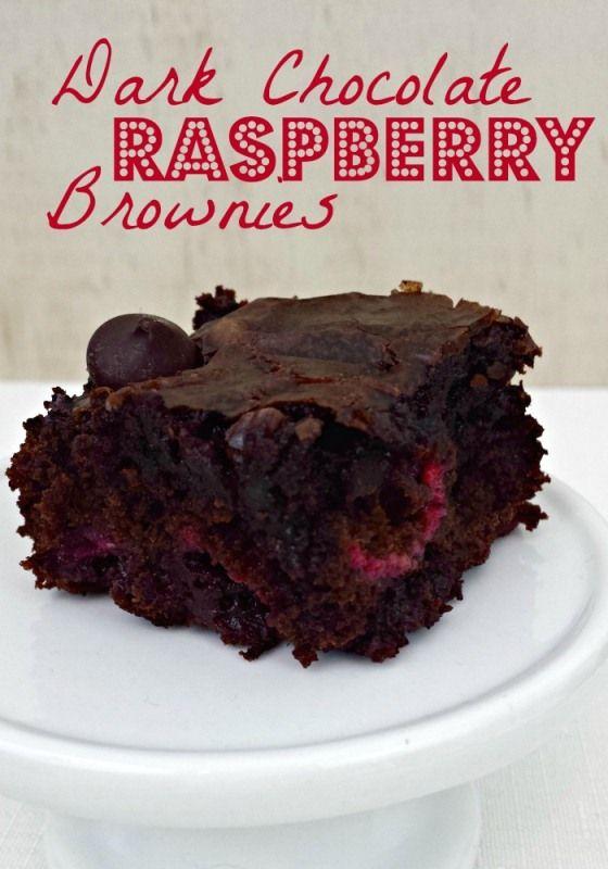 Dark Chocolate Raspberry Brownies-using brownie mix, 1/2 tsp raspberry ...