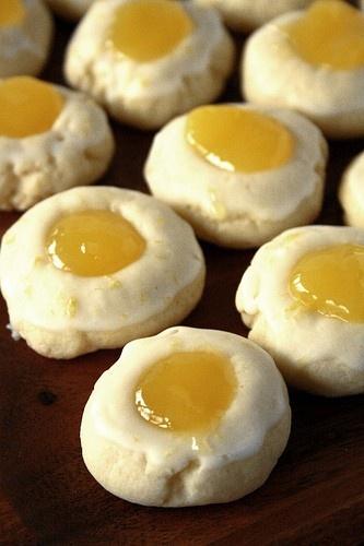 Lemon Sunshine Thumbprint Cookies | Favorite Recipes | Pinterest