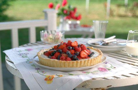Summer berry tart with lemon cream.. 30 mins to prepare and.. 25 mins ...