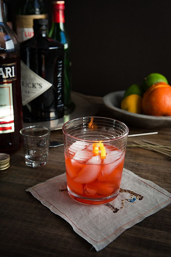 Red Negroni Cocktail Recipe — Dishmaps