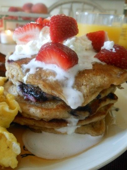 Oat Nutty Whole Wheat Blueberry Pancake | Good Recipes | Pinterest