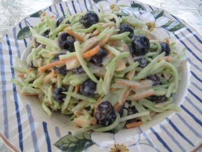 Tangy Blueberry Almond Broccoli Slaw | Salads | Pinterest