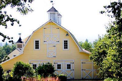 Be still my heart.....a yellow barn