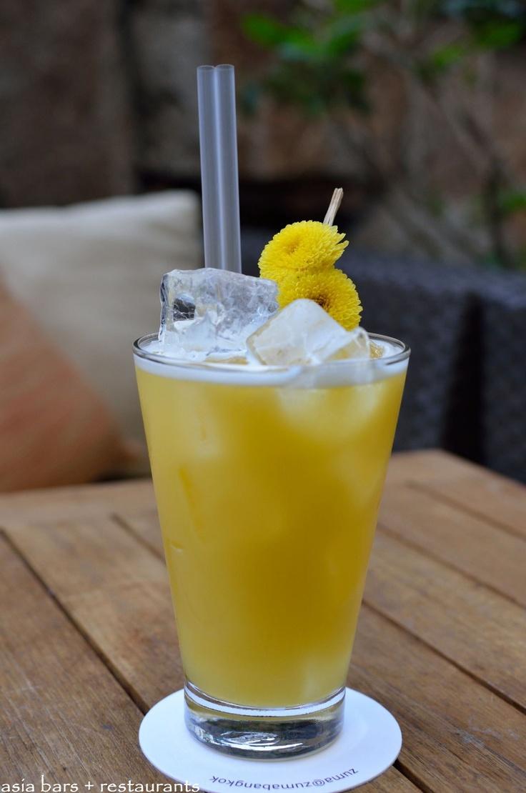 Mandarin Fizz: Broker's gin, jasmine infused Iichiko Mugi Shochu ...
