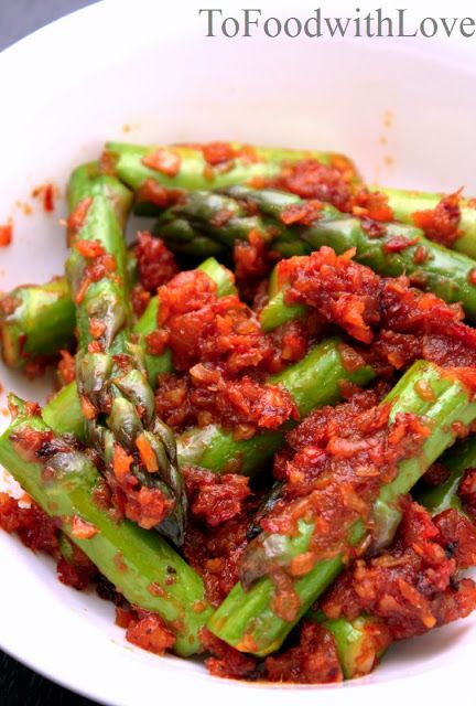 Stir-fried Asparagus with Sambal Belacan | Healthy Fork | Pinterest