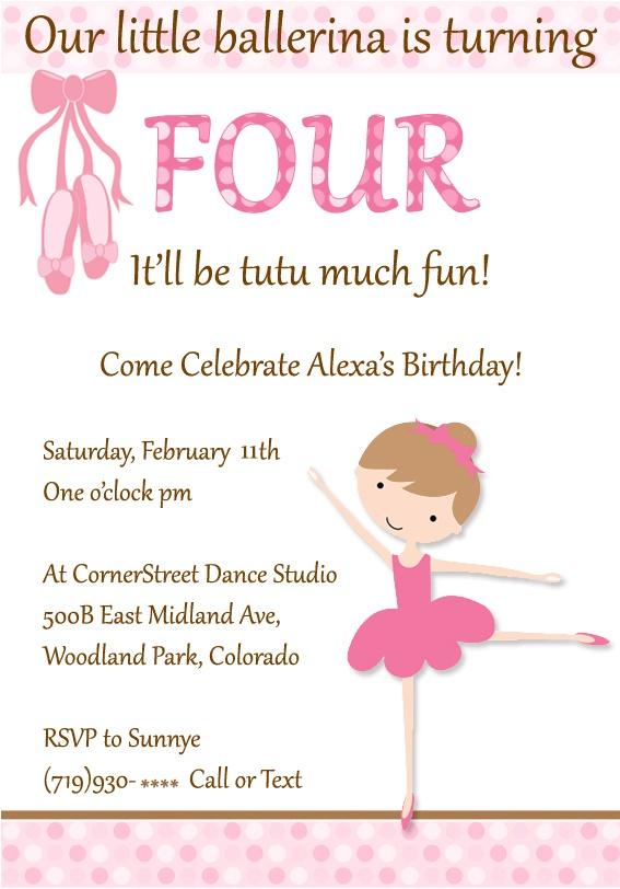 happy 4th birthday invitations