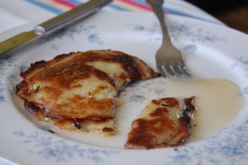 potato pancakes: melt some cheese on top, bacon please :)