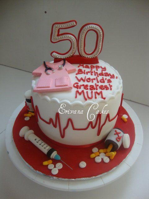 Birthday Cake Ideas For Nurses