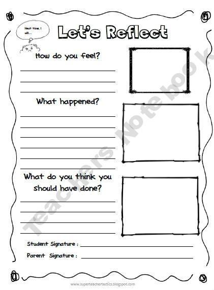 home images behavior reflection sheet behavior reflection sheet ...