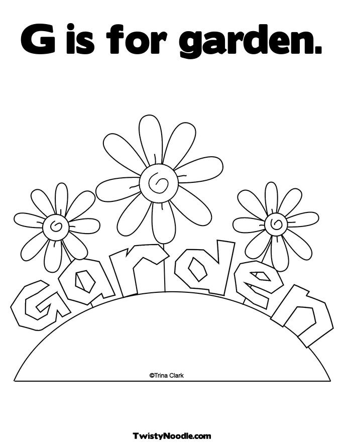 Gardening Coloring Pages For Kindergarten : Pin by cigales on dibujos pinterest