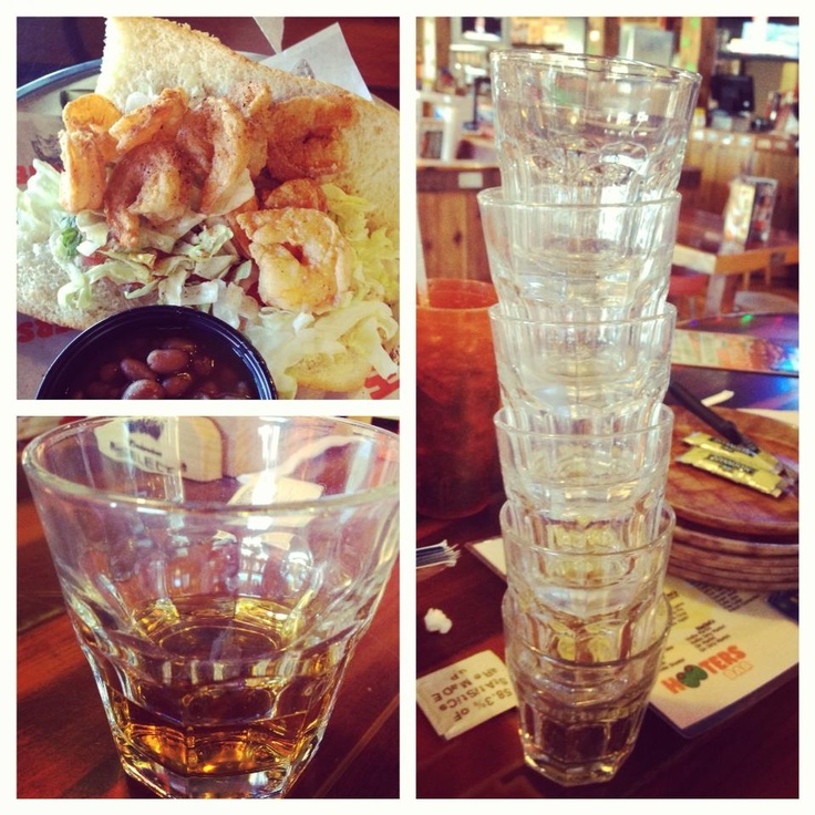 Little Cajun Shrimp sandwich and Whiskey before we leave Tennessee ...