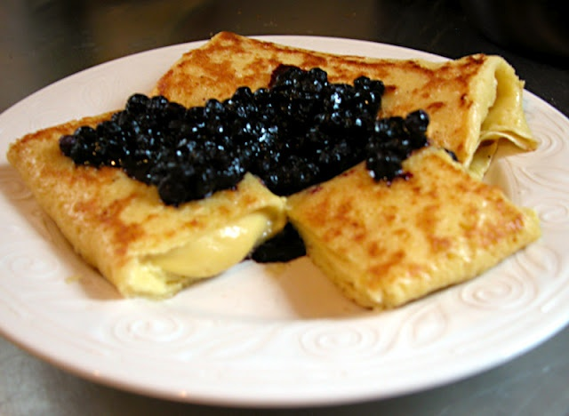 Cheese Blintzes with Blueberry Sauce | Recipes to Try - Sweet | Pinte ...