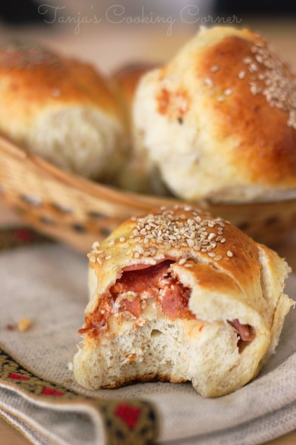 Ham and Cheese Filled Butter Dinner Buns | Recipes I'd like to try ...
