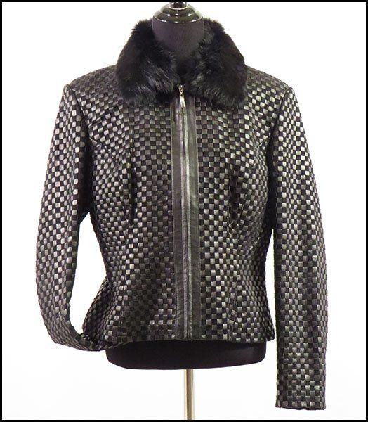 Marvin Richards Woven Leather Jacket. : Lot 129-9360 #marvinrichards
