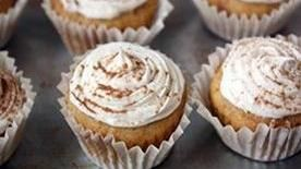 bites made with creamy sweet potatoes and a brown sugar frosting ...