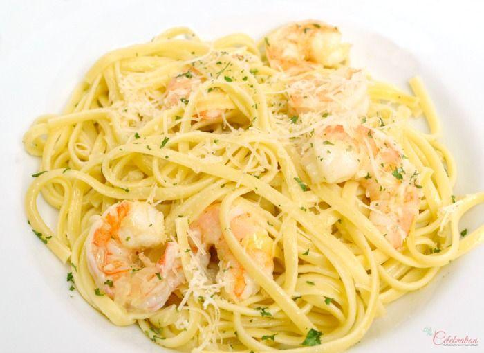 Linguine with Shrimp, Garlic & Parmigiano - an easy, quick dinner for ...
