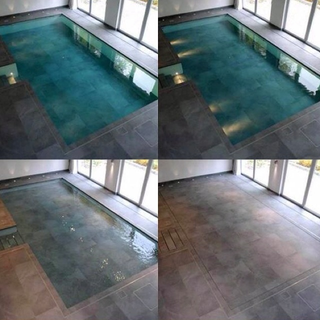 Hydrofloor movable pool floor interior design deco pinterest for Movable swimming pool floor australia