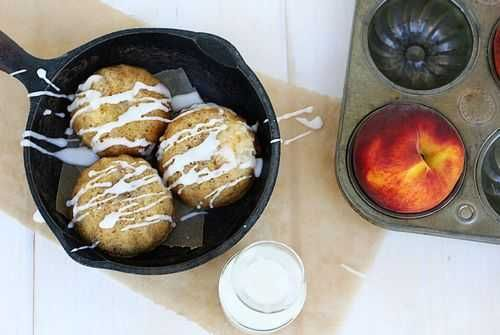 Ultimate Peach Muffins with #FNDish for #SummerFest