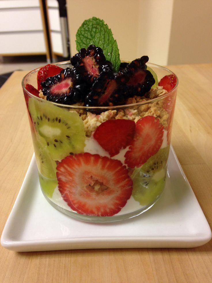 Fruity Tofu Parfait With Granola Recipe — Dishmaps