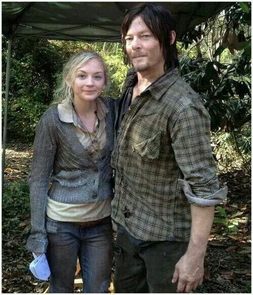 Emily Kinney & Norman Reedus | The VALking Dead ! | Pinterest