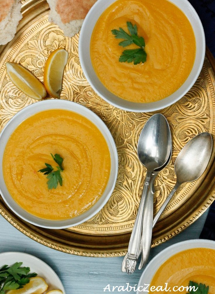 Middle Eastern style Red Lentil Soup | Soups. | Pinterest